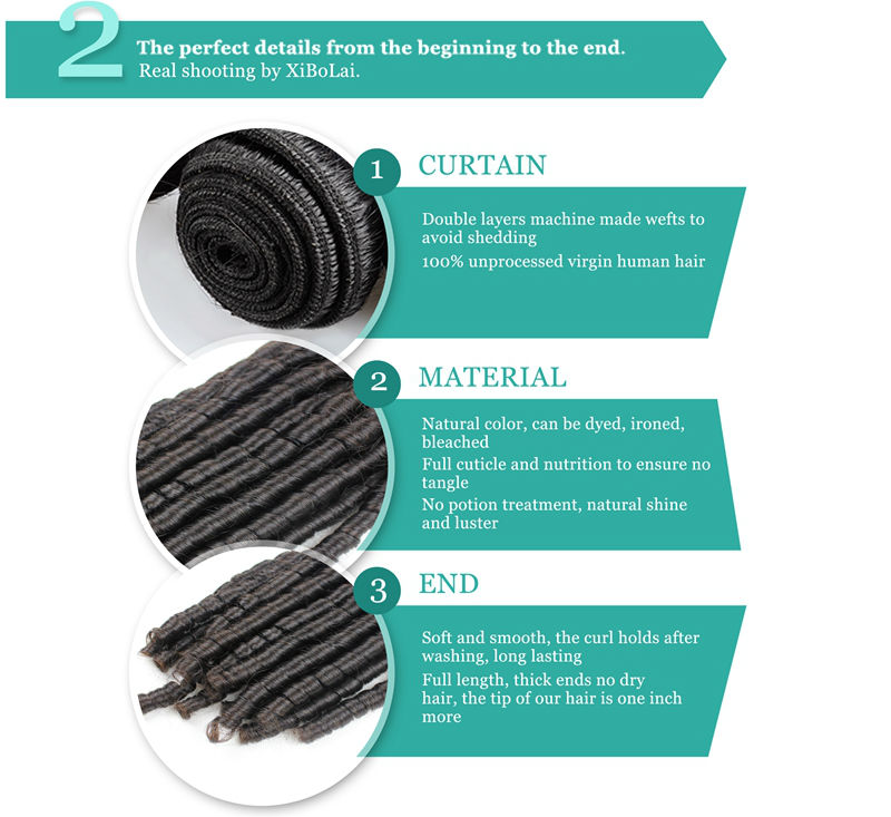 Fashionable and Modern 100% Chinese Spiral Curl Virgin Human Hair