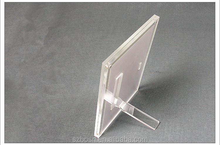 Strong Magnetic Acrylic Photo Frame with a Movable Bracket