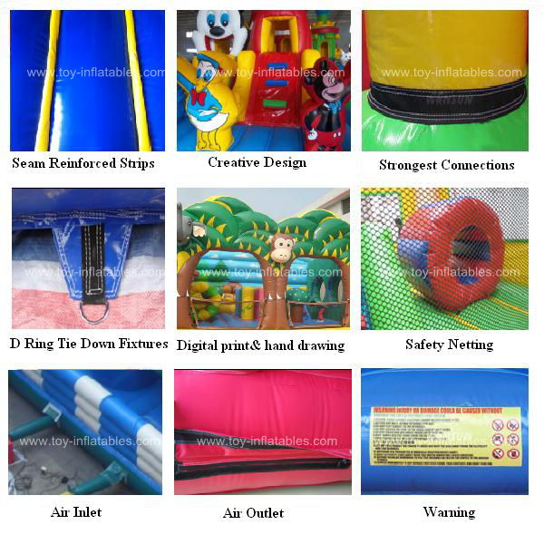 Hot sale cheap water slide bounce house
