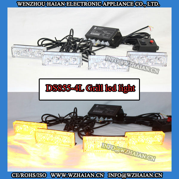 Recovery LED Grille Lights Police led warning flashing light