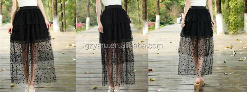 America lace maxi skirt manufacture