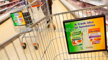 shopping cart front advertising board