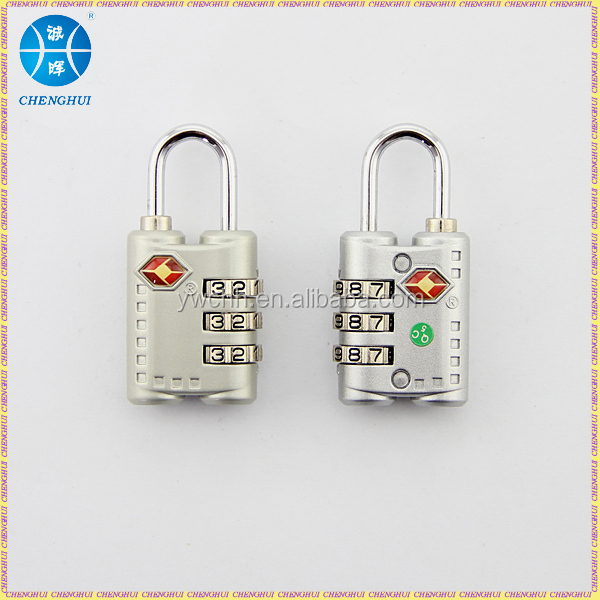 Zinc alloy tsa lock travel tsa luggage lock 3 digit tsa combination lock