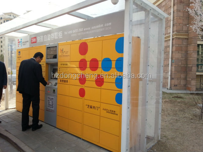 Fashionable multicolor steel parcel locker