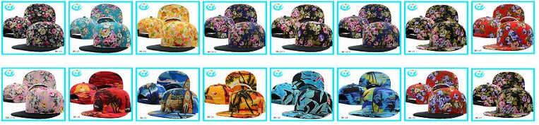 Fashion design custom floral 5 panel cap snapback hats