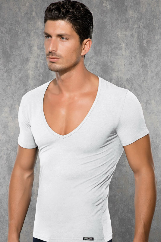 Mens deep blank scoop v neck type t shirts for promotion for Deep scoop neck t shirt