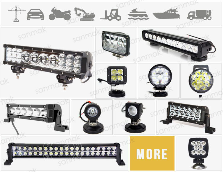 Sanmak Top Grade high brightness aluminium housing work light 7inch led headlight