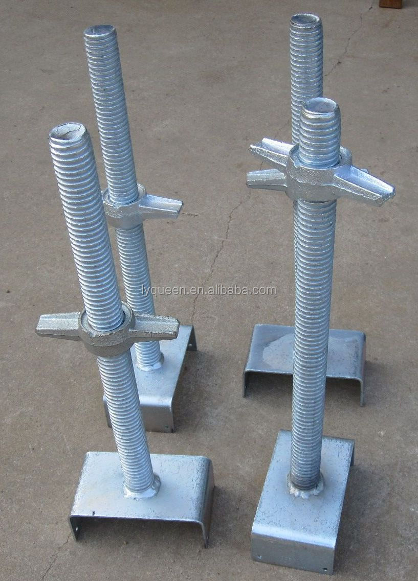 Adjustable Jack Posts : Adjustable screw jack post for building galvanized