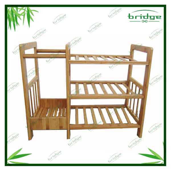new arrival wall mount bamboo book shelf magazine rack