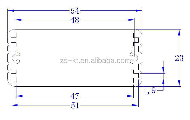 ZS-8139 High quality Aluminum extrusion enclosure for project 54*23mm