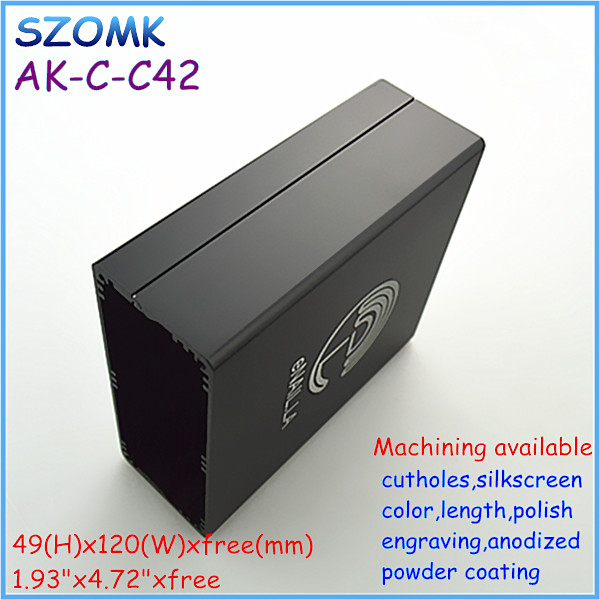 black anodized electronic enclosure boxes