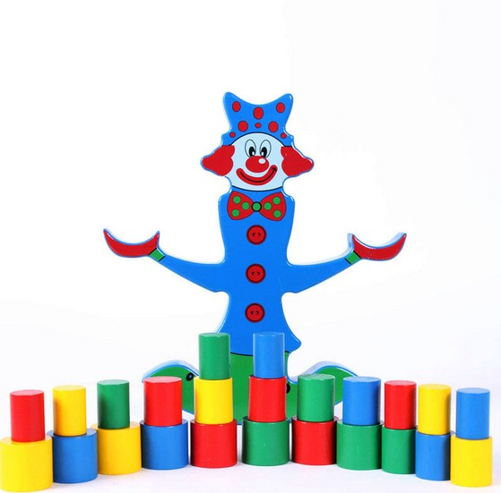 Educational Colorful Musical Cute Plastic Baby Clown Toys For Kids