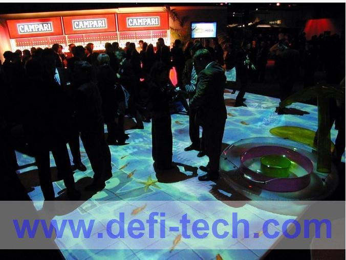 Best price DEFI Interactive floor projection system for wedding / 120 different effects and necessary hardware free shipping