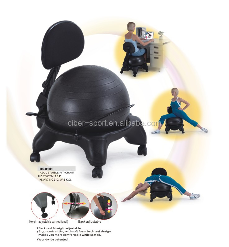 Half fit fitness yoga exercise pilates balance gym ball chair, View