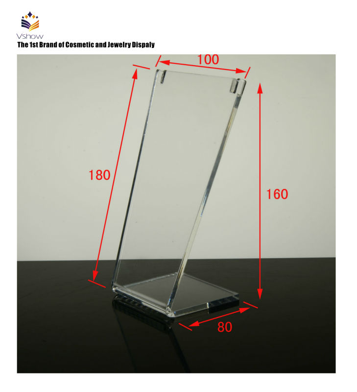 Unique And Fashion Acrylic Standing Menu Holder Manufacturer
