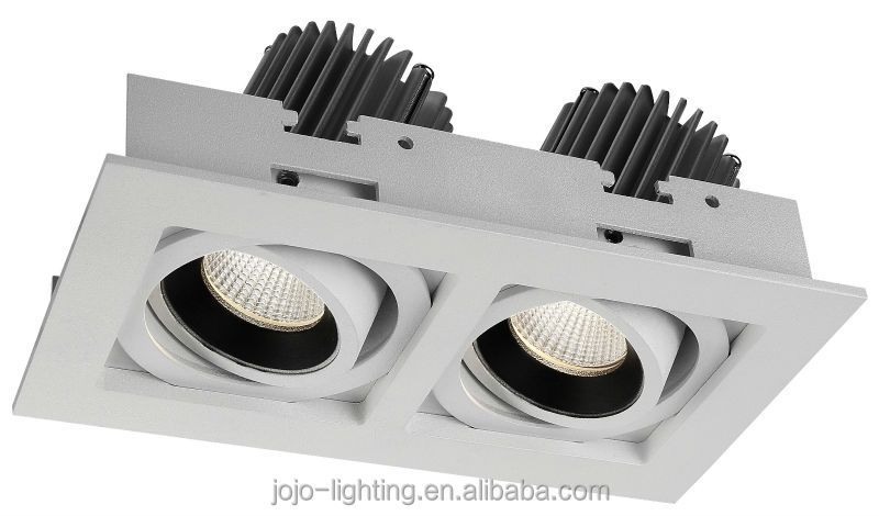 2*25w 2 beam adjustable led grille lights twin led down light
