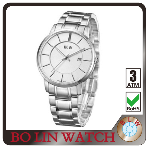 stainless steel watch, solid 316L stainless steel/swiss movement/sapphire glass/men