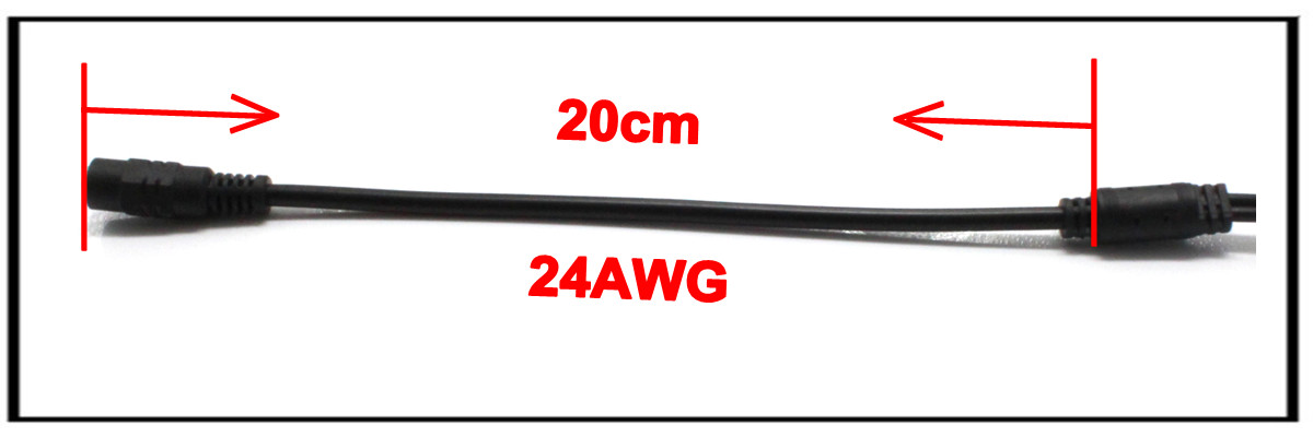 40cm 5.5x2.1mm 12v dc power dc to dc cable for LED,CCTV