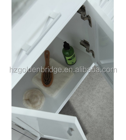 "78"" Modern White Double Sink Bathroom Vanity For Wholesale"