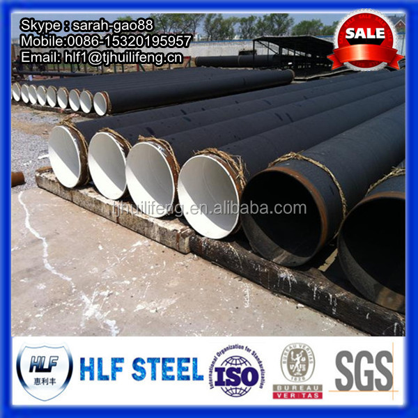 Coal Tar Pipe : Saw welded pipe structure pipeline coal tar epoxy