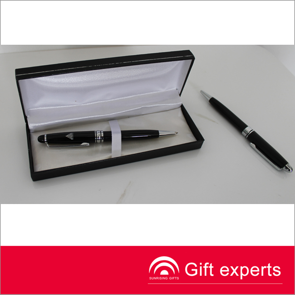 high quality metal pen/twin pen with logo printed for business gift