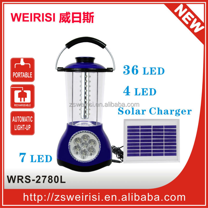 36LED Solar Rechargeable Reading Lamp & Table Lamp (WRS-2780L)