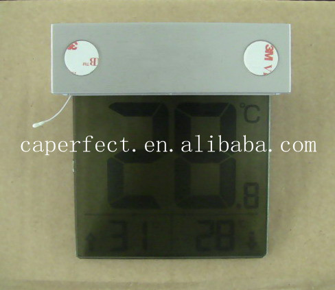 Large LCD display digital indoor outdoor thermometer