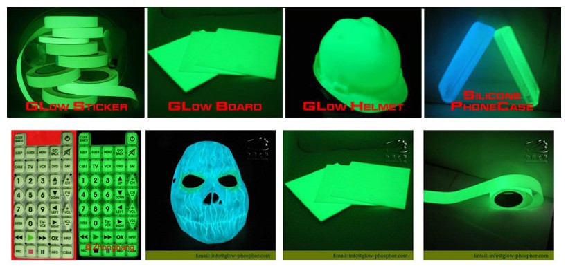 Blue-green glow dark/pigments manufacturer/colored luminous powder