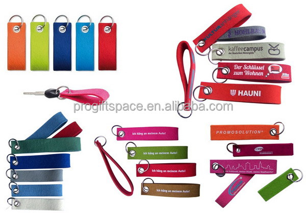 Aliexpress hot sale high quailty promotional gift cheap customize logo felt key chain wholesale personalized keychain
