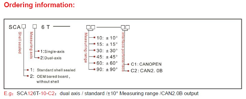 SCA126T Cheap CAN-based Slope Sensor , Dual-axis Inclinometer CAN2.0B Builted In ADI High Precision Temperature Senosor