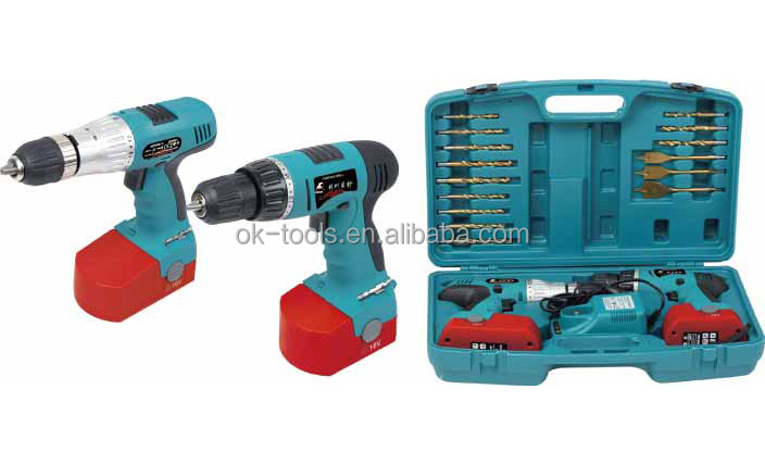 2014 new China wholesale alibaba supplier power tool manufacturer 18v electric twin drill set