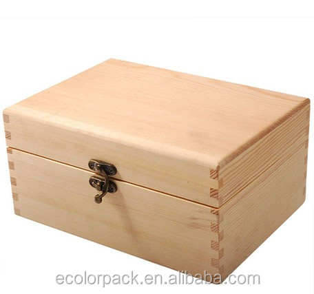 Custom pine gift box unfinished wood boxes for crafts for Unfinished wooden boxes for crafts