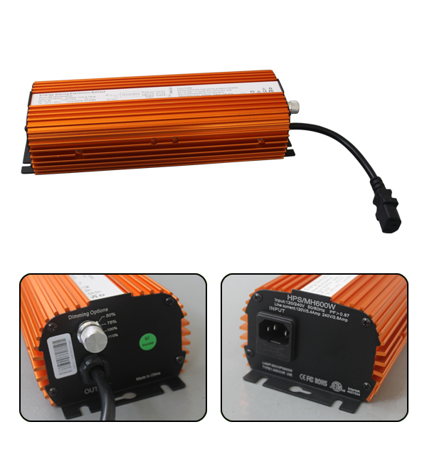 Hot selling good quality hps bulb 600w ballast