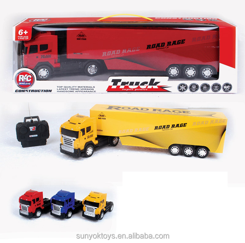 Remote Control Tractor Trailer Trucks : Ch rc remote control truck trailer with light buy