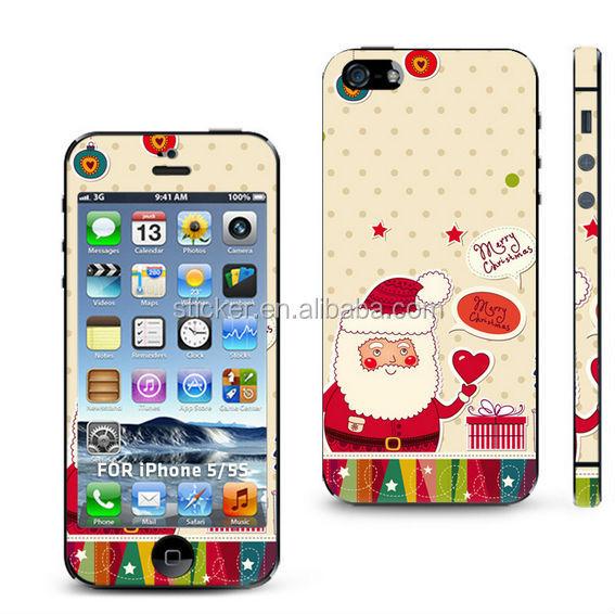 Full cover cartoon design mobile phone sticker for iphone 4 5 skin sticker wf