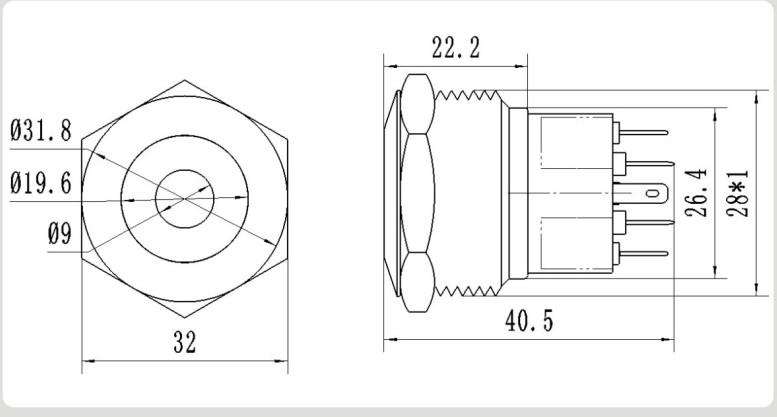 cmp metal waterproof 2no2nc latching push button micro switch 12v