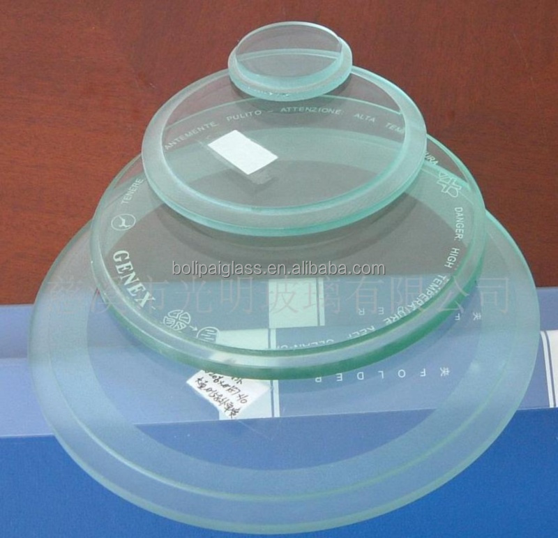 frosted transparent tempered glass lamp cover for sale