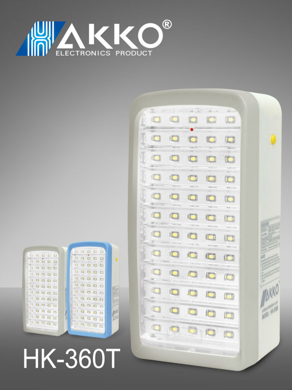 220V emergency light 56leds battery rechargable lamp
