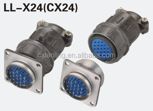 GX12 connector round type and square type