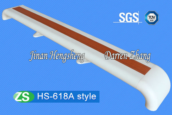ZS Factory Sold Directly 140MM Aluminum+PVC Hospital Handrail