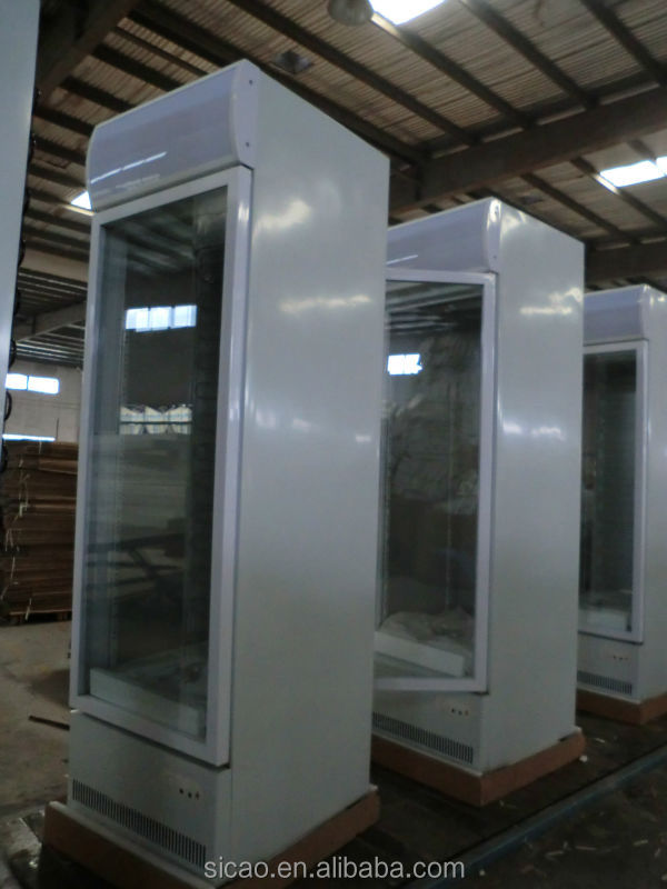 1 Door Type 293 Liter Supermarket Refrigerator, Upright Display Fridge