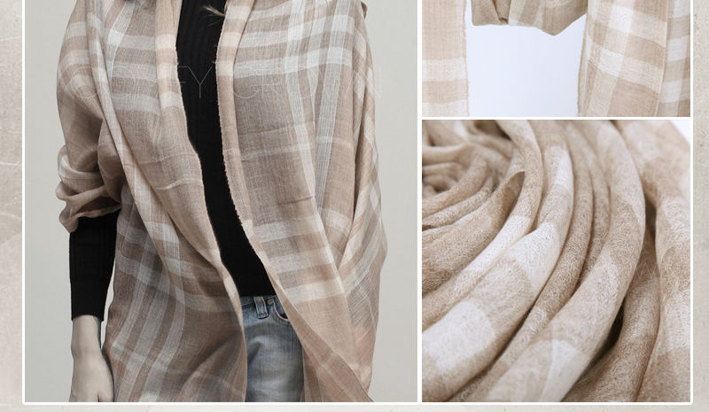 2014 New scarf R&D SWC114 Environmental checked Top sell cashmere scarf scottish cashmere scarf wholesale