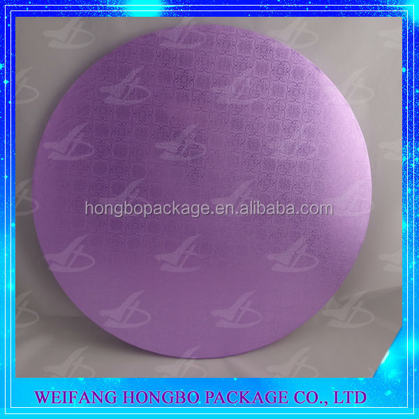 round cake board, purple laminated cake board