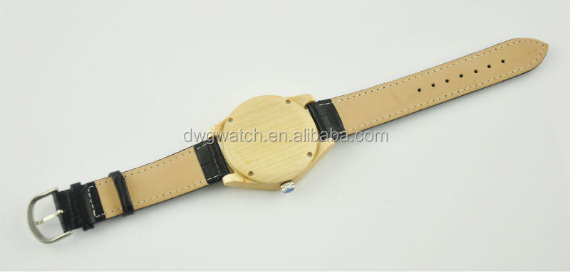 Wholesale Leather Wood Watch with Custom Watch Face