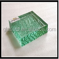 opaque textured safety fused glass for buliding glass