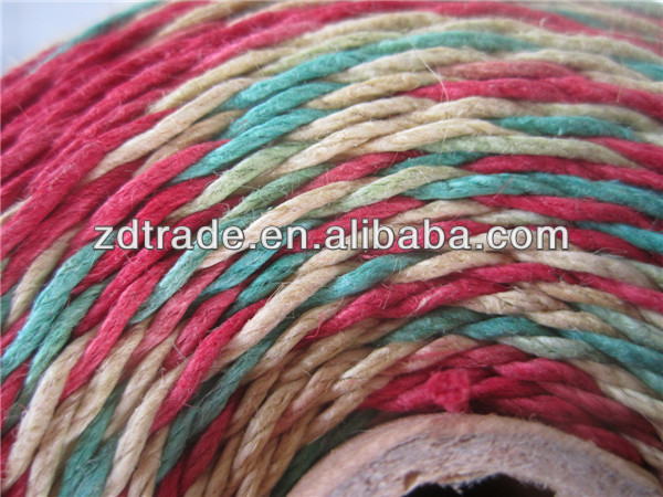 Mixed gradient color Waxed Hemp string