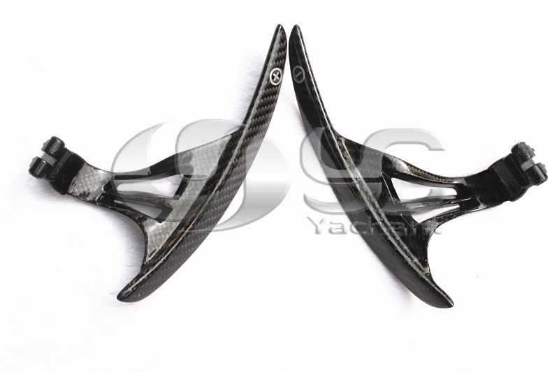 Lengthened Shift Paddle DCF 2*2 Twill Carbon Weave Glossy Finish Fit For 2008-2013 R35 GTR