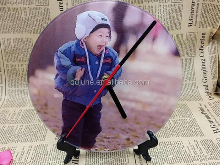 Personalized Sublimalition blank glass round clock