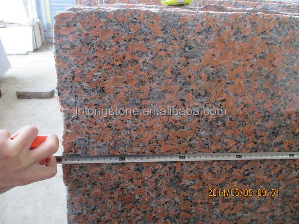 Chinese natural maple red granite slabs G562