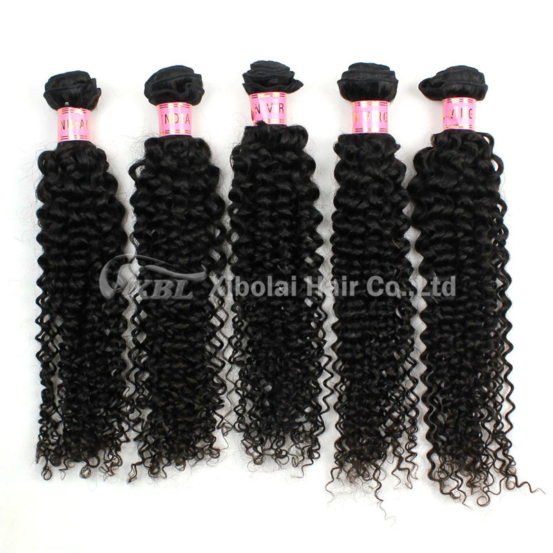 100% Indian Human Hair Extension Afro Kinky Hair Weave